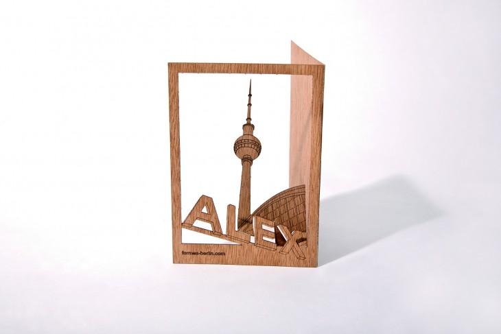 Alex - Holzpostkarte