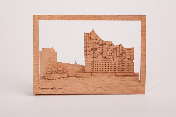Elbphilharmonie - Wooden Postcard