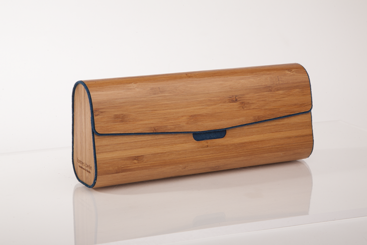 Wooden Cases for Glasses or Pens Bamboo Dark Blue
