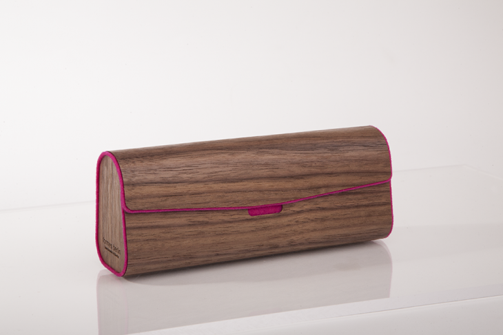 Wooden Cases for Glasses - Nut Pink