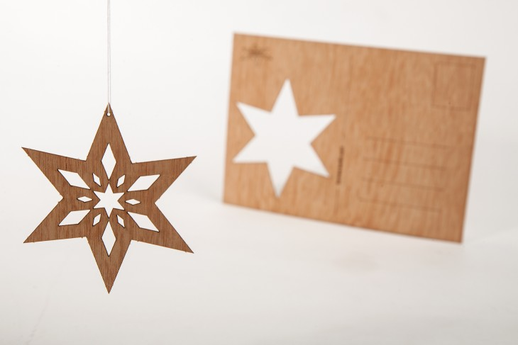Star #7 - Wooden Postcard