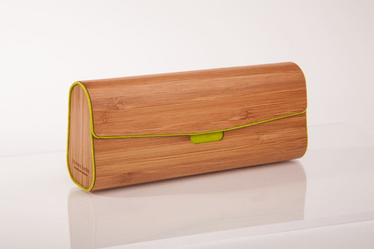 Wooden Cases for Glasses or Pens Bamboo Green
