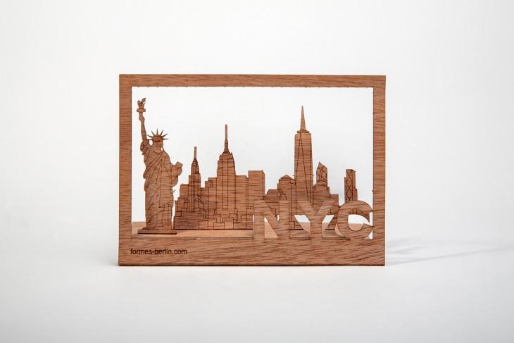 New York - Wooden Postcard