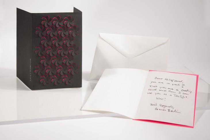 Reliefkarte - schwarze Blüte