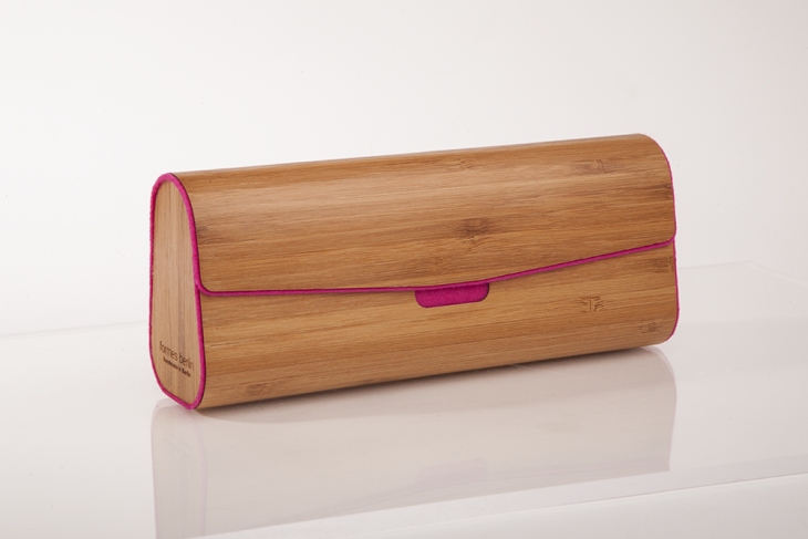 Wooden Cases for Glasses or Pens Bamboo Pink