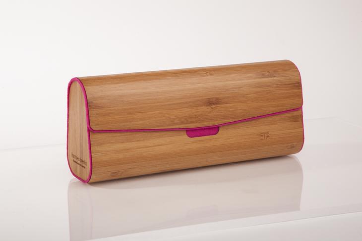 Mäppchen aus Holz gedämpfter Bambus Pink