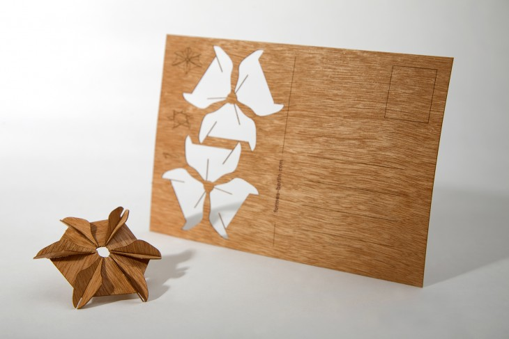 Petal Star - Wooden Postcard