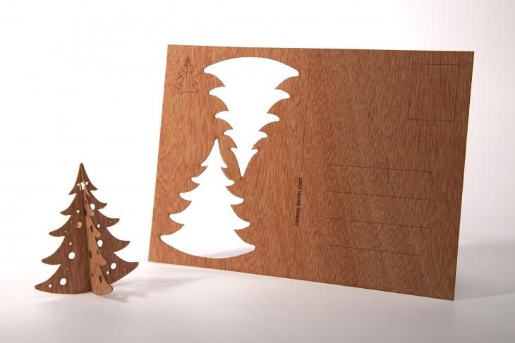 Wiggle fir - Wooden Postcard