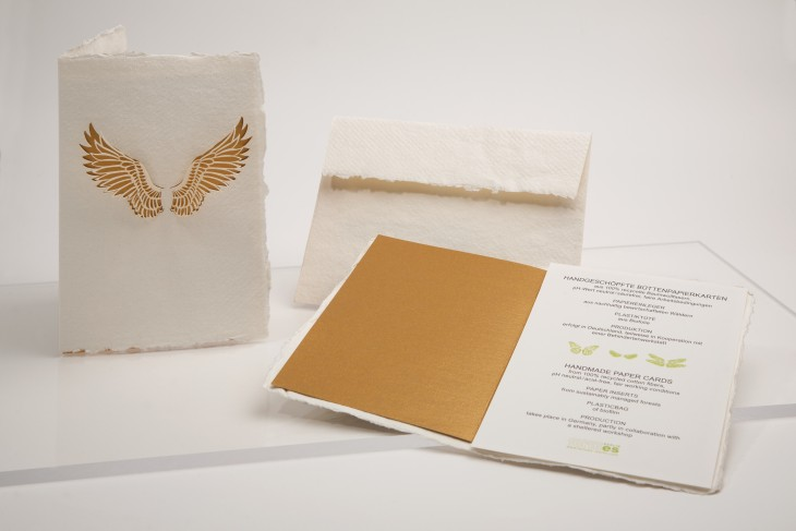 Angel Wings - greeting card handmade paper
