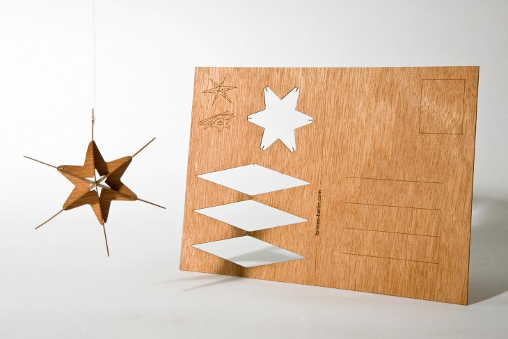 Star #4 - Wooden Postcard