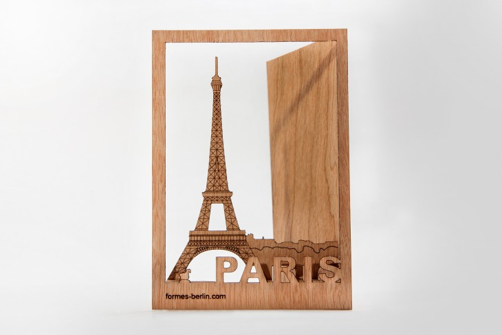 Paris - Wooden Postcard