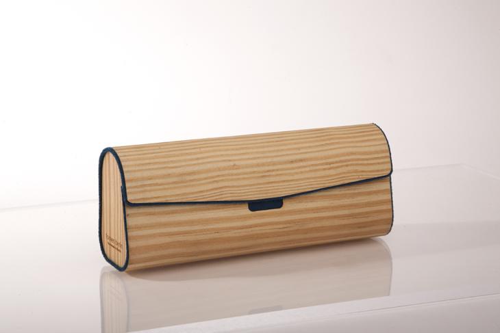 Wooden Cases for Glasses - Pine Dark Blue