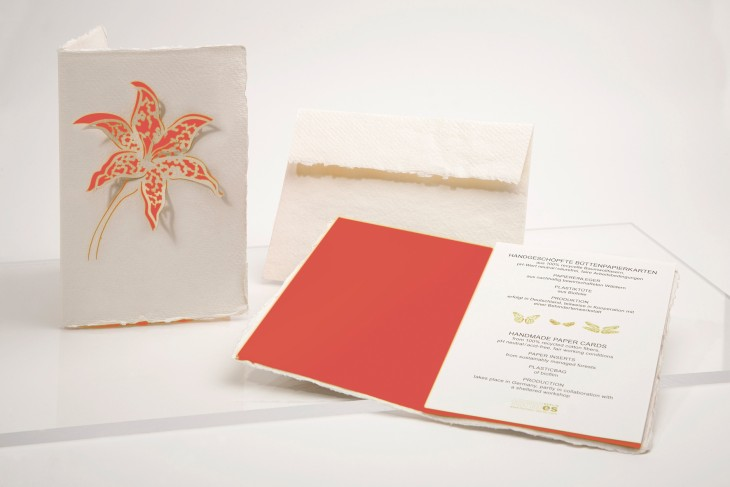 Lily coral - Handmade Paper Card