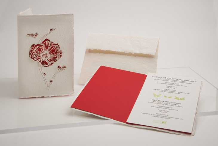 Ladybug Blossom - Handmade Paper Card