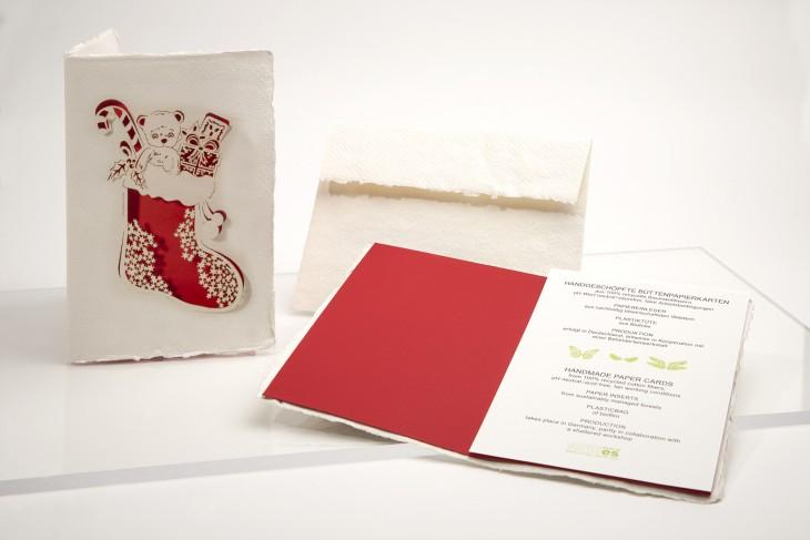 christmas stocking - Handmade Paper Card