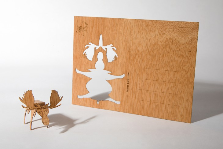 Moose - Wooden Postcard