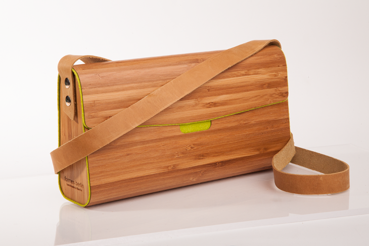 Wooden Handbag Bamboo Green