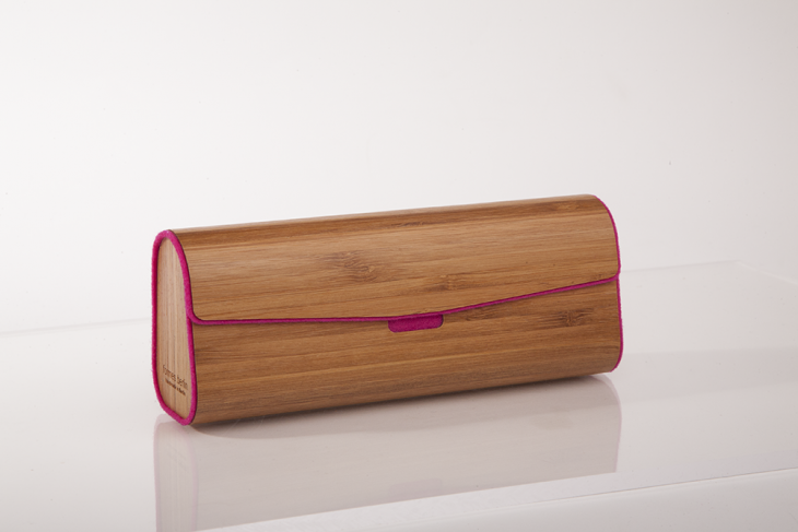 Wooden Cases for Glasses - Bamboo Pink