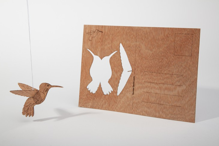 Hummingbird - Wooden Postcard