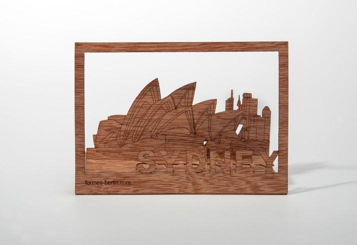 Sydney - Holzpostkarte