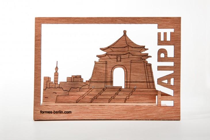 Taipeh - Holzpostkarte