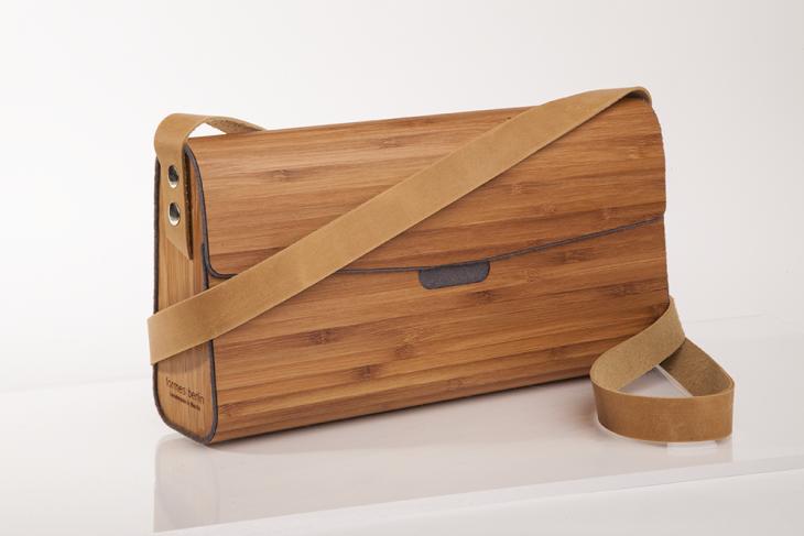 Wooden Handbag Bamboo Grey