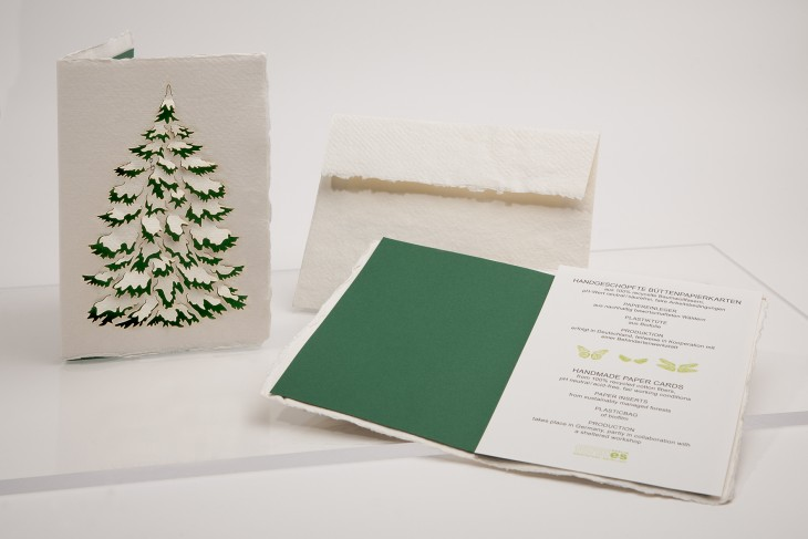 Fir Tree - Handmade Paper Card