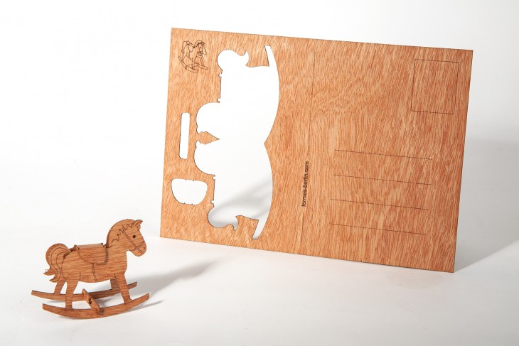 Rocking Horse - Wooden Postcard