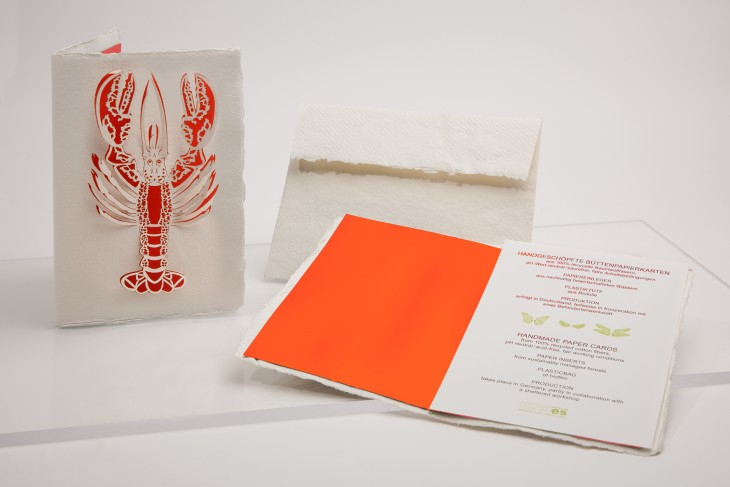 Lobster - Handmade Paper Card