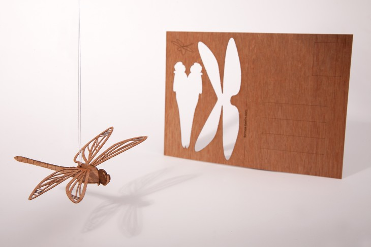 Dragonfly - Wooden Postcard