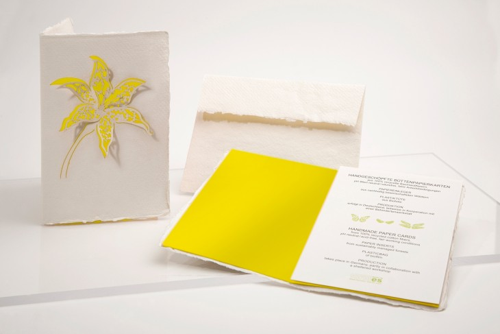 Lily yellow - Handmade Paper Card