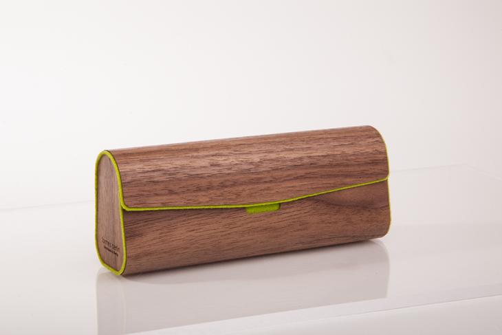 Brillenetui aus Holzfurnier - Nuss Gün