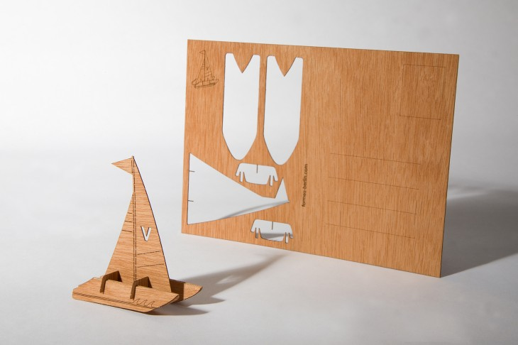 Catamaran - Wooden Postcard