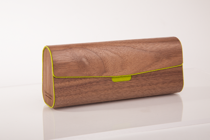 Wooden Cases for Glasses or Pens Nut Green