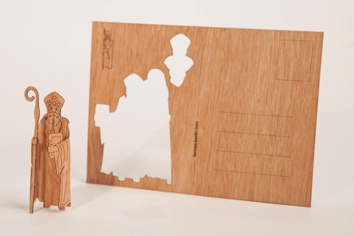 Nikolaus - Holzpostkarte