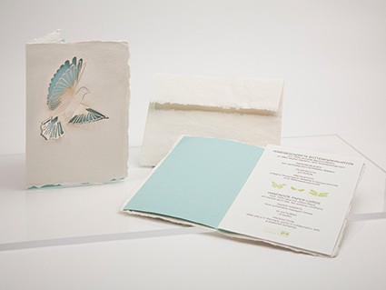Dove - Handmade Paper Card