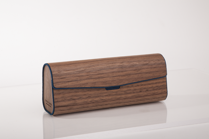 Wooden Cases for Glasses - Dark Blue