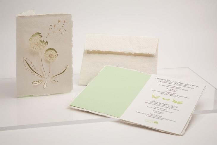 Pusteblume - Klappkarte aus Büttenpapier