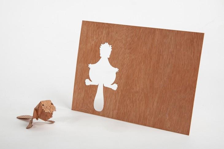 Beaver - Wooden Postcard