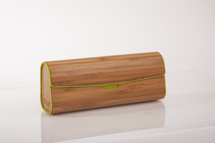 Wooden Cases for Glasses - Bamboo Green