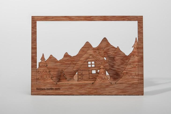Winter - Wooden Postcard