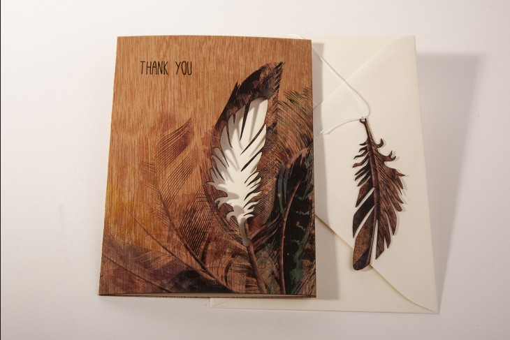 """Thank you"" Feathers - Greeting Card"