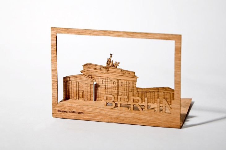 Brandenburger Tor - Holzpostkarte