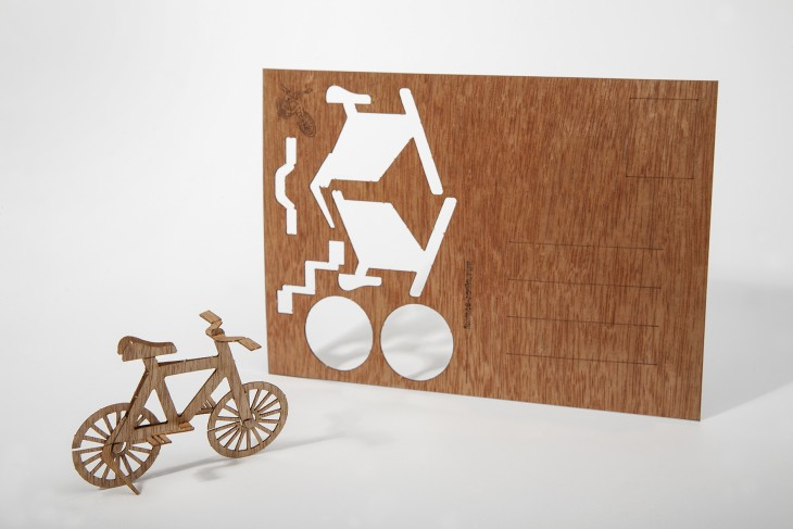 Bike - Wooden Postcard