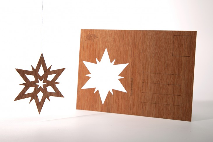 Double Star - Wooden Postcard