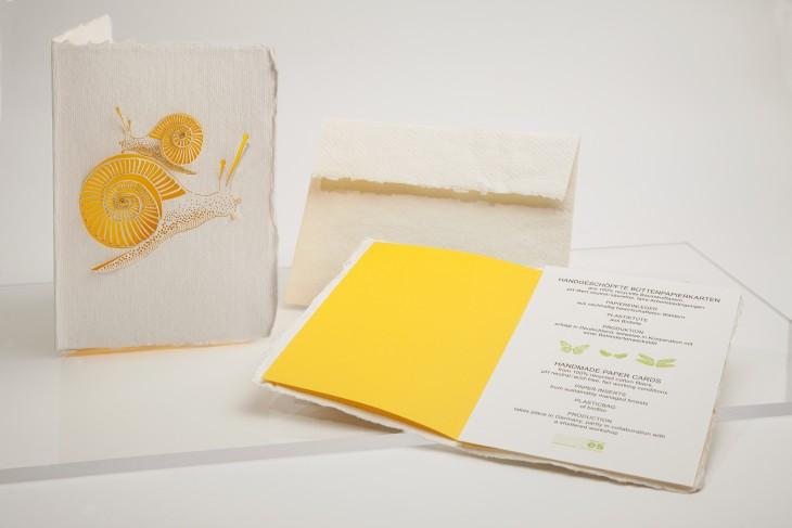 Snails - Handmade Paper Card
