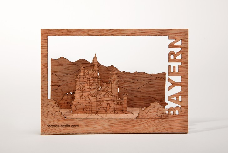 Bavaria - Wooden Postcard